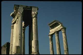 the divine julius Temple of caesar, forum romanum - temple dedicated in 29 bc by augustus to deified julius caesar.