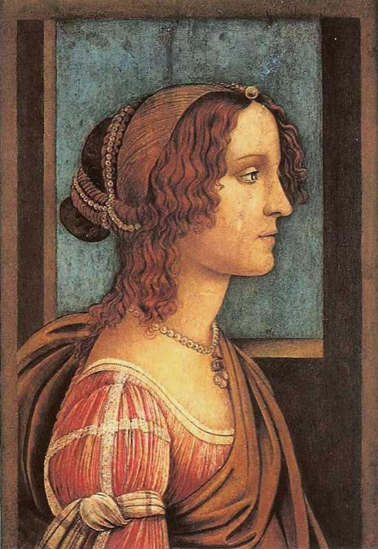 Portrait of a Woman (Simonetta Vespucci) by Sandro Botticelli
