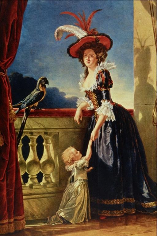 """СХЕМА.  Картина Adelaide Labille-Guiard  """"Мать с ребенком """".  Вышивка крестом."""