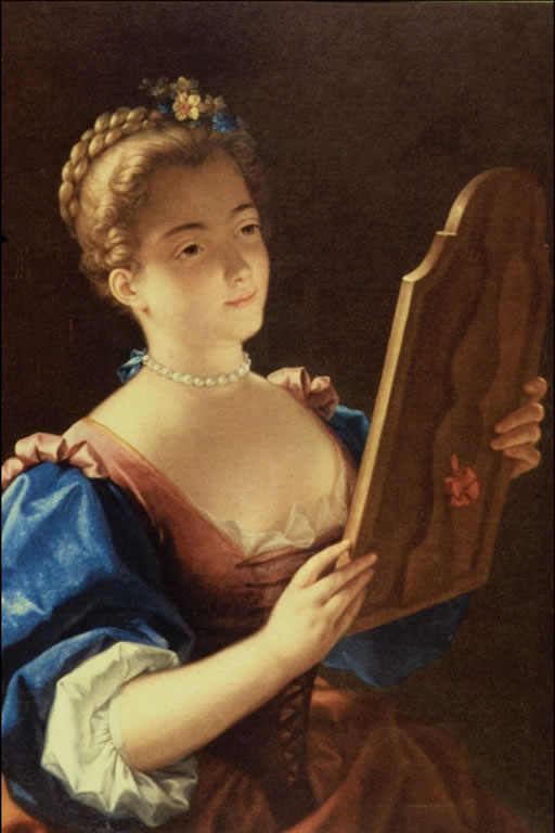 Famous historical paintings for Fille au miroir