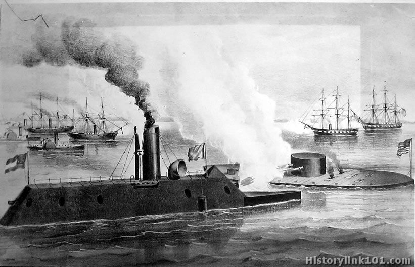 A history of battle between the uss monitor and the css merrimack