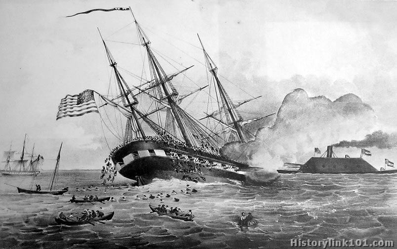 a history of the uss merrimac and the naval warfare of the american civil war The history of the merrimac, css alabama the newest era of naval warfare began #2790 in books history americas united states civil war confederacy.