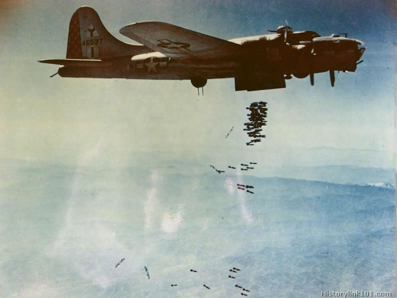 Color Pictures of World War II Bombers, Royalty Free