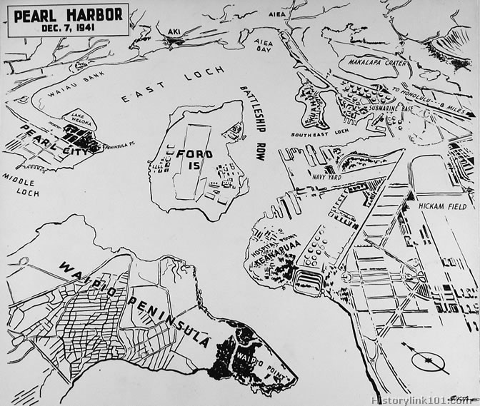 Pearl Harbor Map on